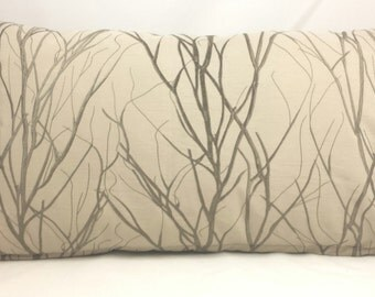 Tree Branch Rectangular Cushion Cover.