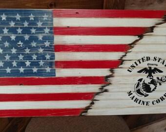 Military pallet flag