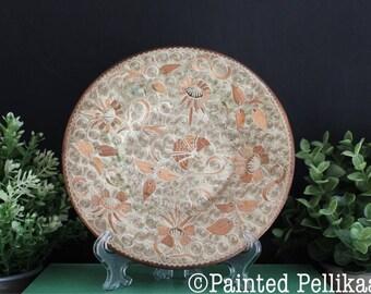 Vintage Copper Plate, Decorative Copper Plate, Copper Plate, Vintage Handmade Copper Plate, Copper Patina, Copper Wall Decor