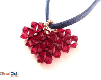 Beaded Heart Pattern - Heart Pattern - Heart Pendant - Heart Tutorial - Beading Tutorials and Patterns - Beaded Heart Tutorial