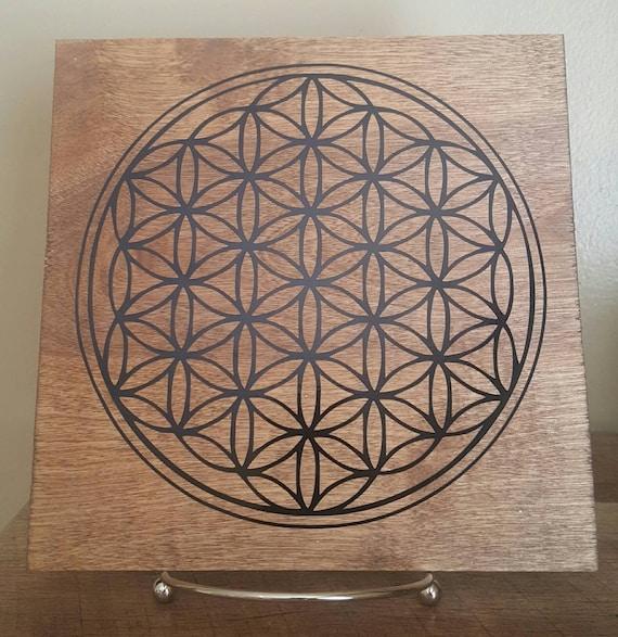 Crystal Grid // Flower Of Life // Gift // Wood