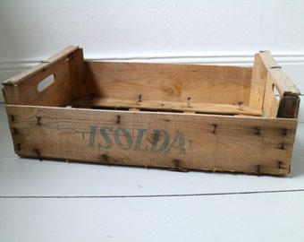 antique wooden margarine chest German brand