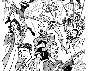 RENT 20th anniversary production 2016/17 - Dramatic Inking