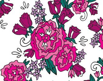 Multi Pink Floral Greeting Card