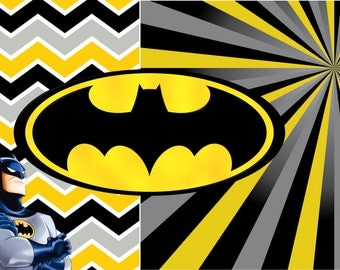 Batman Digital Paper Plus Batman and Logo