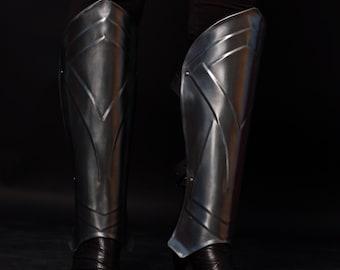 Leg Armor - Steel Greaves