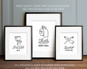 Funny wall art, Bathroom art, PRINTABLE art, Set of 3, Bathroom wall decor, Bathroom printables, Funny bathroom signs, Kids bathroom art