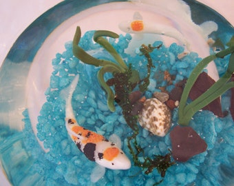 Koi Carp Glass Bowl Pool