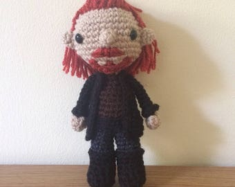 Captain Flint Amigurumi, Black Sails Crochet Plush, Pirate James Flint Plushie