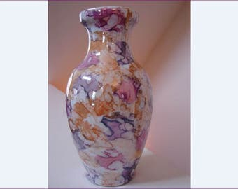 Jackson Pollock Style Vase, Flower Vase, Art. Decorative, Artistic, Multi-Color, Splotches, Abstract Design, Vase, Vases