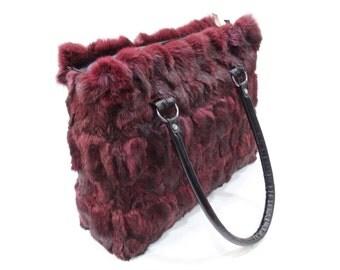 Bordo fur bag,Rabbit fur bag F482