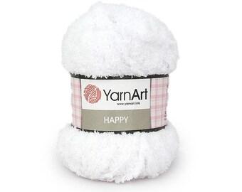 HAPPY YarnArt  100 gr.- 175 m. shiny soft terry yarn for children, Knitting Yarn, Terry Cloth Yarn, Soft Bulky Yarn, Baby Yarn