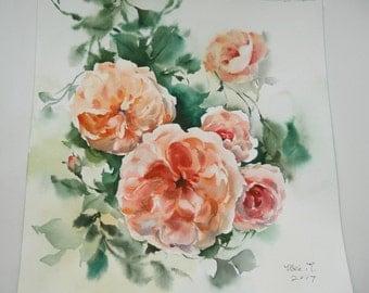 Original watercolor painting Soft Dream