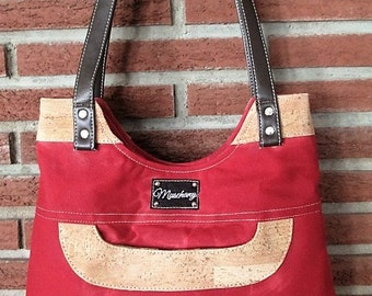 "Cork/Waxed Canvas ""Chilli Pepper Red"" Purse"