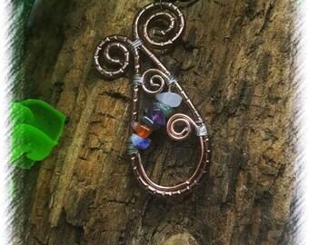 Gemstone Handwired pendant