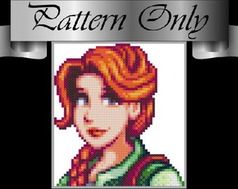 Pattern - Leah Character Portrait - Stardew Valley