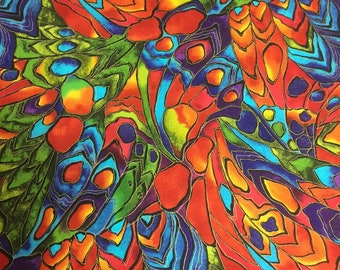 "2 Yards ""Kaleidoscope"" by Hoffman International Screen Print  ~  2 Yards  ~  New"