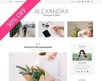 Alexandra Wordpress theme - Feminine wordpress theme - Responsive WordPress Theme - Blog template - Fashion template - Wordpress blog theme