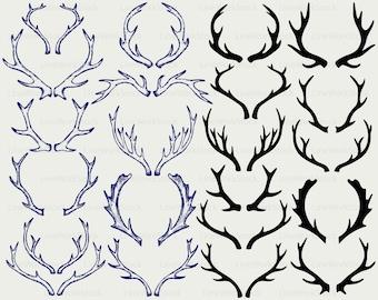 Antlers svg,deer antlers clipart,moose antlers svg,antlers silhouette,antlers cricut,cut files,clip art,digital download designs,svg,dxf