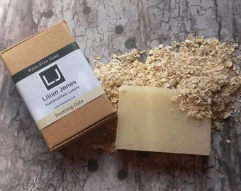 Traditional 100% Natural Soap - Cruelty Free Vegan - SLS, Parabens and Palm Oil Free - OATMEAL