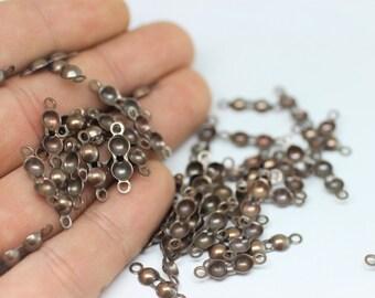 25/50/100 Pcs Antique Copper End Clasp With Loop - Inner 4.5 mm-Knot Cover End-Cord End Cap-Crimp Cover-Crimp-Charlotte Crimp End-End Clasp