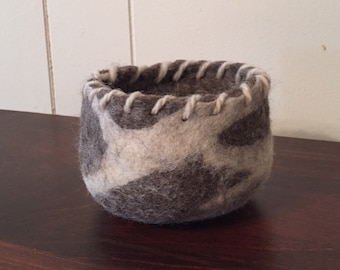 Rustic Felted Bowl
