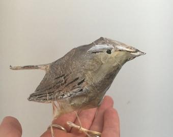 Paper mache Bird / Small Bird / Sparrow /Wren sculpture