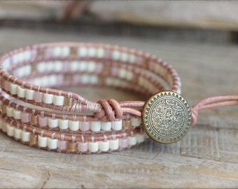 Beaded Wrap Bracelet,  Wrap Bracelets, Leather Wrap Bracelet, Beaded Leather Wrap Bracelet, Boho Wrap Bracelet, Bracelet Wraps
