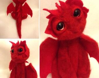 Sweet Red Dragon Ooak Soft Sculpture