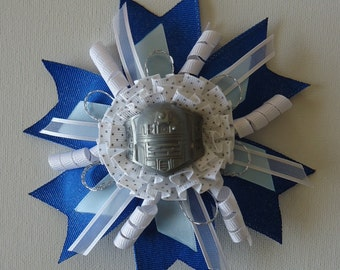 Star Wars : R2-D2 Blue and Grey Hair Bow
