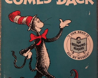 Dr. Seuss The Cat in the Hat Comes Back 1958 - First Edition w/ DJ