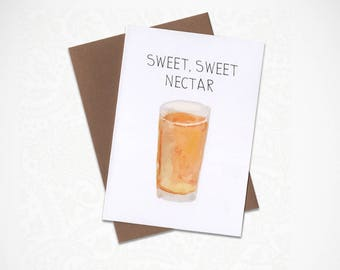 Sweet, Sweet Nectar Funny Greeting Card