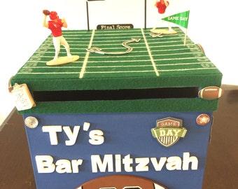 Football themed Bar Mitzvah box