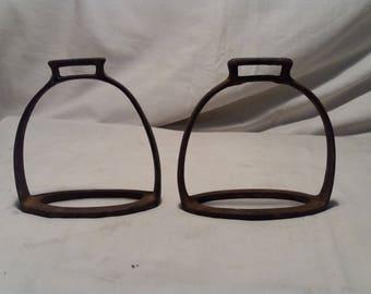 Vintage Metal Stirrups - A Pair