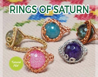 Wire Jewelry Tutorial: Rings of Saturn. Wire ring tutorial, ring tutorial, wire jewelry tutorial, PDF, PDF tutorial, copper wire tutorial
