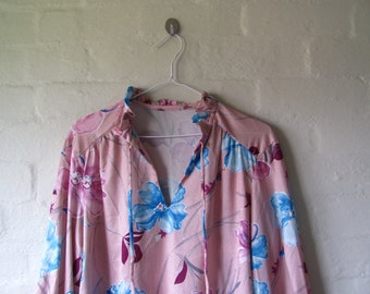 amazing floral pink blouse