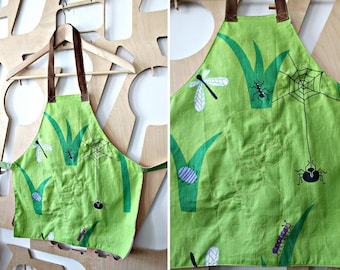 Handmade Children's Apron Fully lined Cotton Kids Apron Pinafore Personalised Christmas Gift Personalised child's gift Stocking filler