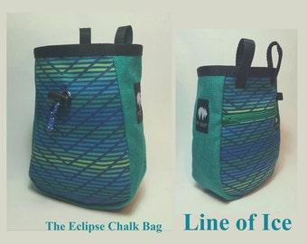 Eclipse Chalk Bag, Line of Ice by Mt Gruff