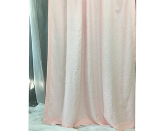 Pink Linen Shower Curtain - Mildew-Free, 72x72, 72x85, 72x94. Custom Curtains, Bathroom Curtain, Bathroom Decor