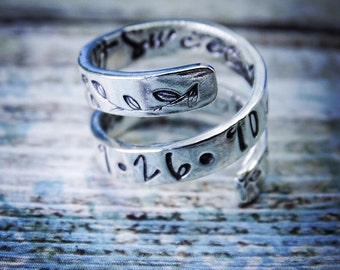 Adjustable silver ring|handstamped| handforged| friendship ring| friendship jewellery| God daughter ring| memorial ring| rememberance ring|