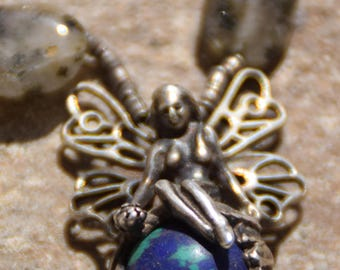 Silver Fairy pendant with necklace