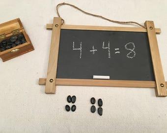 Math Counting Montessori Waldorf Preschool Kindergarten Counting Rocks