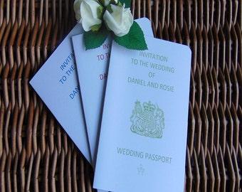 Wedding invitations, wedding invitations, passport invitations, UK invitations, renew vow invitations, wedding invites, wedding day