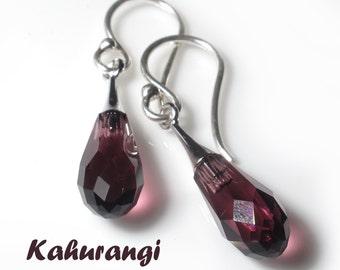 Amethyst earrings,Purple earrings,Swarovski earrings,Purple Swarovski earrings,Trendy Swarovski earrings,February birthstone,fashion earring