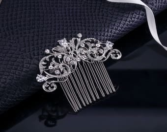 Bridal Hair Jewelry Crystal Hair Jewelry Wedding Hair Jewelry Rhinestone Comb Crystal Comb Vintage Bridal Comb Veil Hair Comb Hair Pin