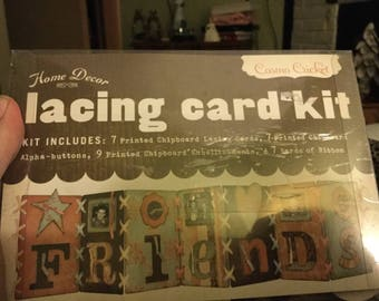 Cosmo Cricket Home Decor Lacing Card Kit  -  Friends