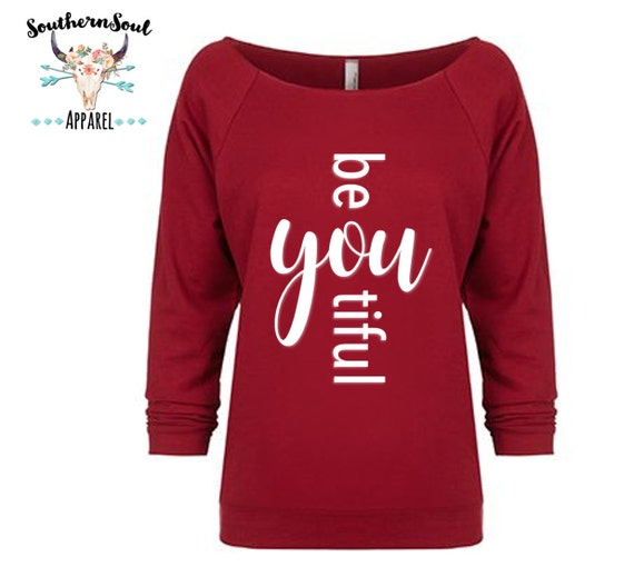 Be YOU Tiful Beautiful 3/4 Sleeve Raw Edge Raglan, Long Sleeve, Country Shirt, Country T Shirt, Country Long Sleeve, Country Concert