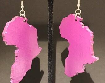 Purple Africa Earrings!