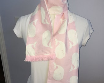 Preppy Pink Whales Scarf