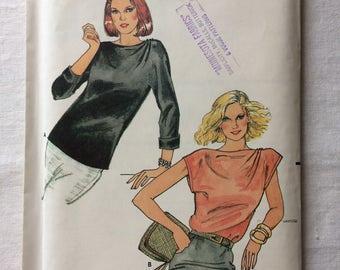 Vintage UNCUT New Butterick 3028 Misses Size 14 Blouse Pattern